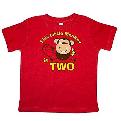 Inktastic Little Boys' Little Monkey 2nd Birthday Boy Toddler T-Shirt