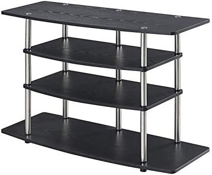 Convenience Concepts Designs2Go No Tools Wide Highboy TV Stand, Black