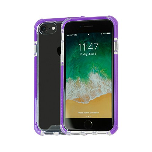 Idea Promo Ultra Clear Case Compatible for iPhone 6 | 6s | 7 | 7s | 8,Clear Case Shock-absorption and Anti scratch, Slim, Heavy Duty Protective, Reinforced Conner and Rubber Bumper Shockproof (Purple) by Idea Promo