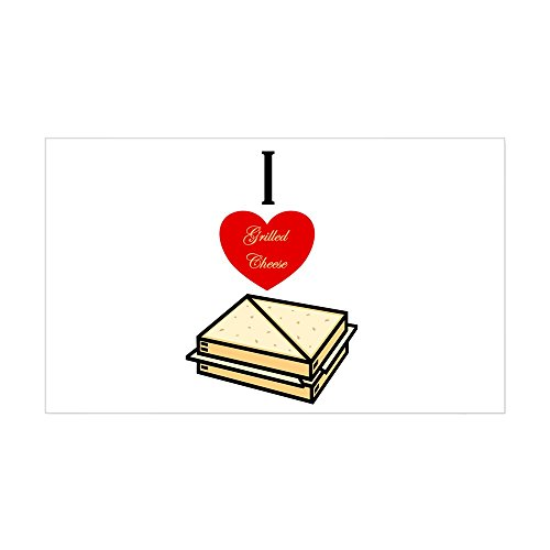 CafePress I Love Grilled Cheese Rectangle Sticker Rectangle Bumper Sticker Car Decal