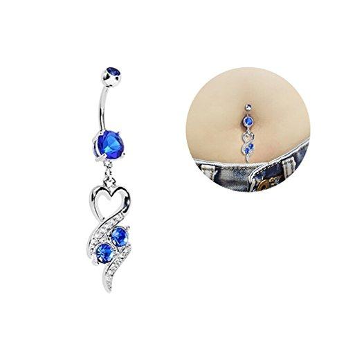 hyidealism oscuro azul Gems diseño con Ombligo Ombligo Barbell Anillo Body Piercing perforadas joyas