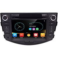 HIZPO 7 Inch In Dash HD Touch Screen Car CD DVD Player FM/AM Radio RDS Stereo GPS Navigation Map Card for Toyota RAV4 2006-2012