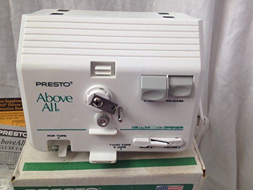 Presto Above All Automatic Under Cabinet Deluxe Can Opener 4b9614
