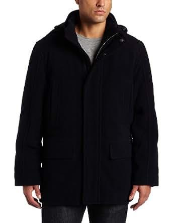 Tommy Hilfiger Men's Wool Plush Stadium Jacket, Navy, Medium