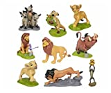 Lion Simba Nala Playset 9 Figure Cake Topper Toy Doll Set Birthday Party Baby Shower