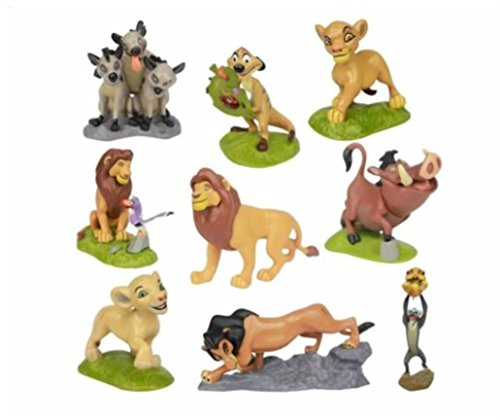 Lion Simba Nala Playset 9 Figure Cake Topper Toy Doll Set Birthday Party Baby Shower by Unbranded