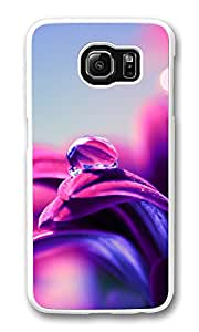 VUTTOO Rugged Samsung Galaxy S6 Case, Dew Drop Macro Detail Purple Tones Case for Samsung Galaxy S6 PC Transparent