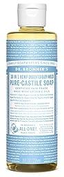 Dr. Bronner\'s Fair Trade & Organic Castile Liquid Soap - (Unscented, 8 oz)