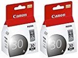 2 Pack NEW Genuine Canon PG-30 Black Printer Ink Cartridges PG30 for Canon Pixma iP1800, Pixma MP140, Pixma MP210, Pixma MP470, Pixma MX300, Pixma MX310, Pixma iP2600, Pixma MP190 Printers, SOLD BY betaInk, Office Central