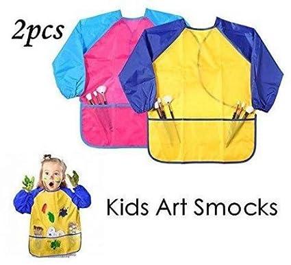 Leegoal (TM) los niños del arte blusones 2 Pack, Niños Delantales De Pintura