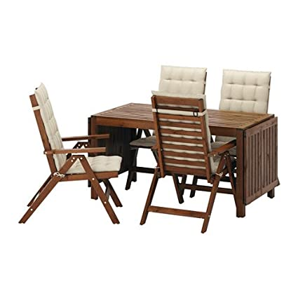 Enjoyable Amazon Com Ikea Table 4 Reclining Chairs Outdoor Brown Machost Co Dining Chair Design Ideas Machostcouk