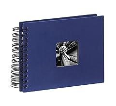Hama Fine Art Álbum de Fotos con Espiral, Papel, Azur, 23,80 x 17 ...