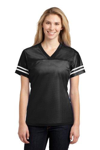 Sport-Tek Ladies PosiCharge Replica Jersey>S Black/White