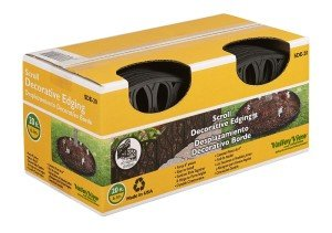 (Valley View SDE-20 Scroll Decorative Lawn Edging, 20', Black)