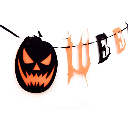 1pcs Vintage Happy Halloween Banner Bunting with Pumpkin