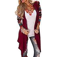 TIFENNY Print Long Sleeve Jacket for Women Sexy Fashion Knitted Cardigan Outwear Coat Sweater Tops