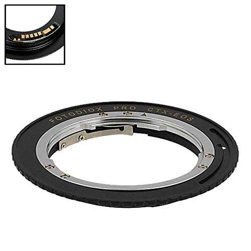 Fotodiox Pro Lens Mount Adapter Compatible with Contax/Yashica (Cy) SLR Lens to Canon EOS (EF, EF-S) Mount D/SLR Camera Body - with Gen10 Focus Confirmation Chip ()