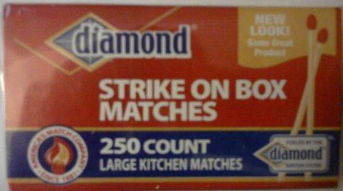 Diamond Strike on Box Matches - Large Kitchen Matches - 250 Count ()