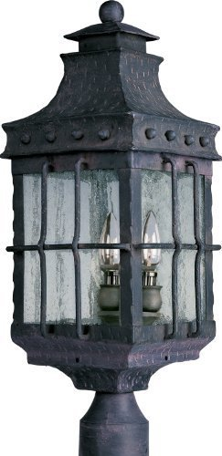 Maxim Lighting 30080 Nantucket Outdoor Pole/Post Mount Lantern, Country Forge Finish, 8.5 by 22.5-Inch by Maxim Lighting