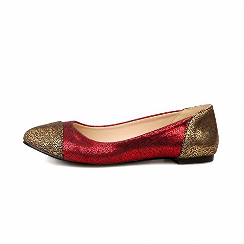 Fashion Cuff Shiny Womens Shoes Loafers Assorted Shoes Sexy Carol Red Colors Flats x4q06Fw