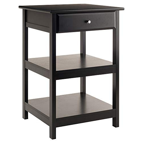 - Winsome Wood 22121 Delta Printer Stand Black Home Office,