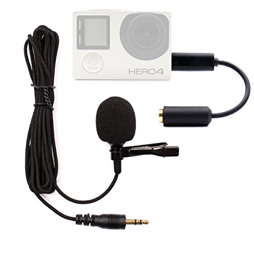 Microphone for Gopro - PANNOVO 3.5mm mini Mic microphone Adapter accessories for Gopro hero 3 3+ 4