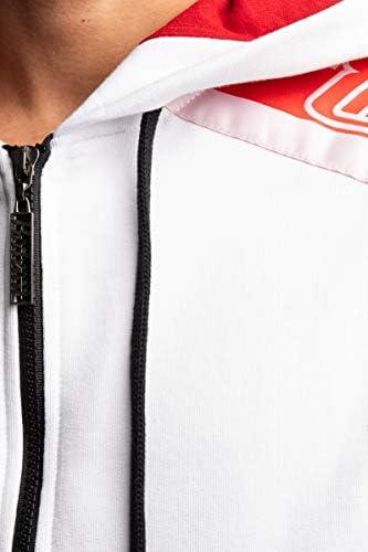 BUT NOT Sweatshirt mit Kapuze und Reißverschluss für Herren, Weiß