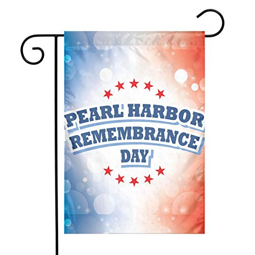MOCHNO Decorative Garden Flags USA Pearl Harbor Remembrance Day Small Flag for Yard Outdoor Decorations 12 X18 Inches ()