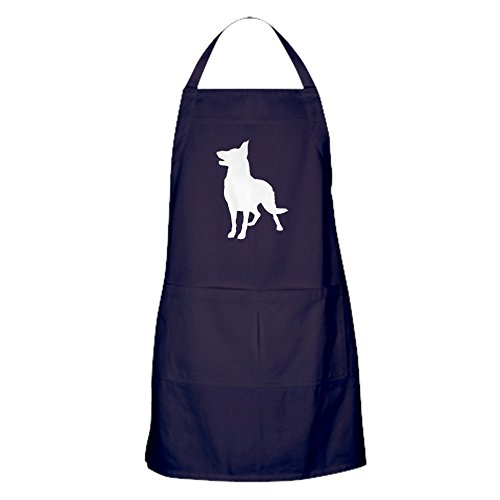 CafePress German Shepherd Silhouette Apron (Dark) Kitchen Apron with Pockets, Grilling Apron, Baking Apron