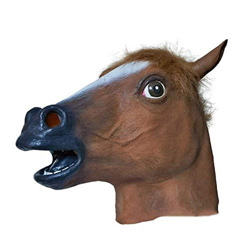 (Home Decoration Collection Ideas Crafts Decor Cosplay Horse Head Mask Halloween Party Dance Party Spoof Animal Mask Latex)
