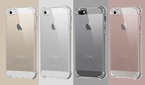 iPhone 5SE Fall, luvvitt [CLEAR Grip] Soft Slim flexibel TPU Rückseite Schutzhülle transparent Gummi für Apple iPhone 5SE Special Edition/6C/Mini klar