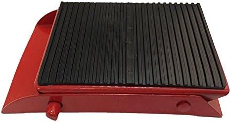 2 x Unterlegkeil Metall einklappbar Radkeil Bremsschuh Rot