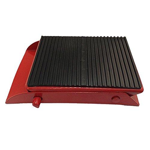 1 x Unterlegkeil Metall einklappbar Radkeil Bremsschuh Rot