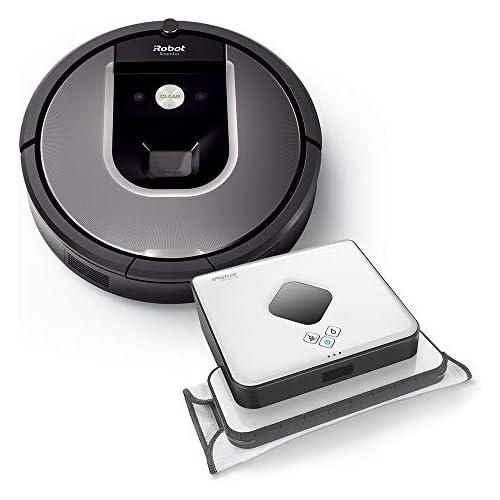 chollos oferta descuentos barato iRobot R960 B390T Alta Potencia de Limpieza en Todos los Suelos óptimo para pelos de Animales y Grandes Espacios Antracita y Plateado