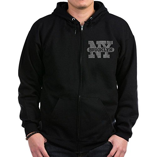 CafePress - Brooklyn New York Zip Hoodie (Dark) - Zip Hoodie, Classic Hooded Sweatshirt with Metal (Stylish Hooded Zipper)