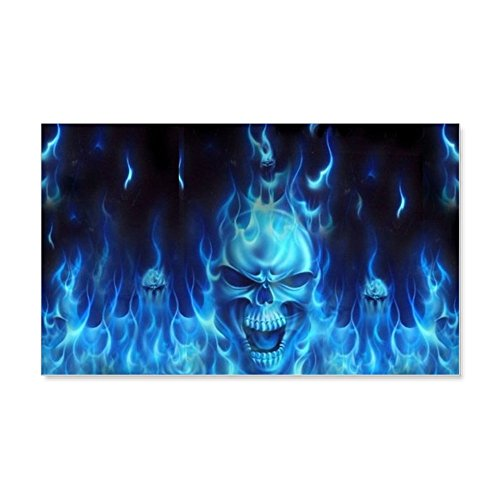 (CafePress - Blue Madness Wall Decal - 35x21 Wall Decal, Vinyl Wall Peel, Reusable Wall Cling)