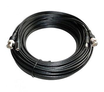 Hyundai – Cable coaxial, Conectores BNC + alimentación, 20 Metros – câble- bnc