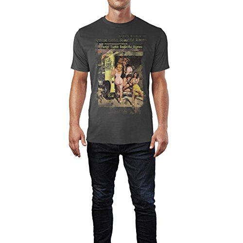 SINUS ART® Strange Exotic Beautiful Women Herren T-Shirts stilvolles rauch graues Fun Shirt mit tollen Aufdruck