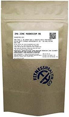 Zinc Magnesium Vitamin B6 ZMA- Testosterone & Sleep Supplement 60 Tablets