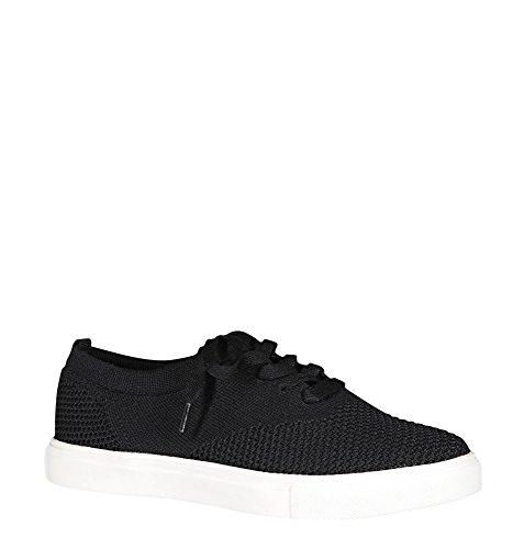 Avenue Womens Hollie Knit Sneaker Black hWRJzNf8