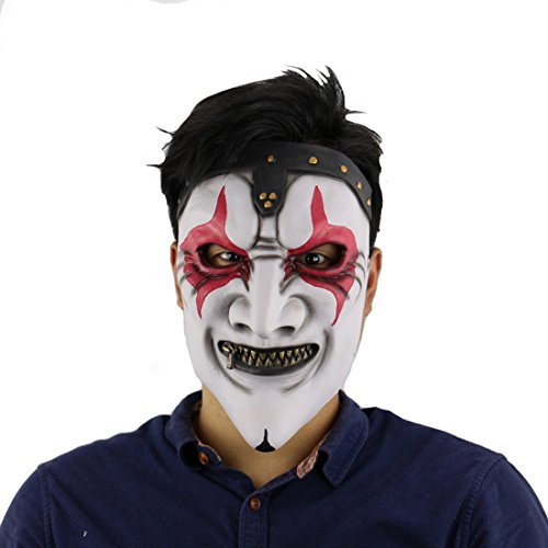 Realistic Demon Costume (MARIAN Halloween Party Horror Demon clown Latex Masks)