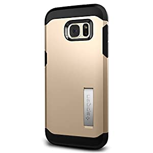 Spigen Tough Armor Galaxy S7 Edge Case with Kickstand and Extreme Heavy Duty Protection and Air Cushion Technology for Samsung Galaxy S7 Edge 2016 - Champagne Gold