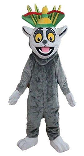 Madagascar King Julian Mascot Costume Cartoon Character Mascot Costumes Sale at (King Julian Costume)