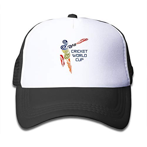 - Cricket World Cup Mesh Baseball Cap Kid's Trucker Hats Black