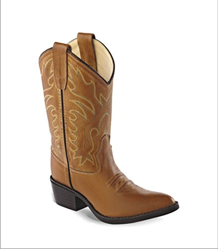 Old West Kids Boots Unisex J Toe Western Boot (Toddler/Little Kid) Tan Canyon 1 M US Little -