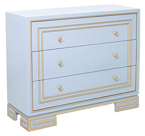 Pulaski DS-D193-008 Modern Style Purple with Champagne Gold Overlay Accent Drawer Chest, ()