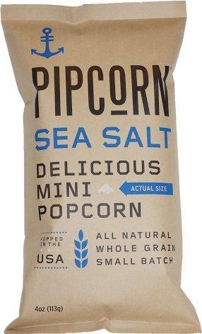 Pipcorn, Sea Salt, 4 Oz (Pack of 4)