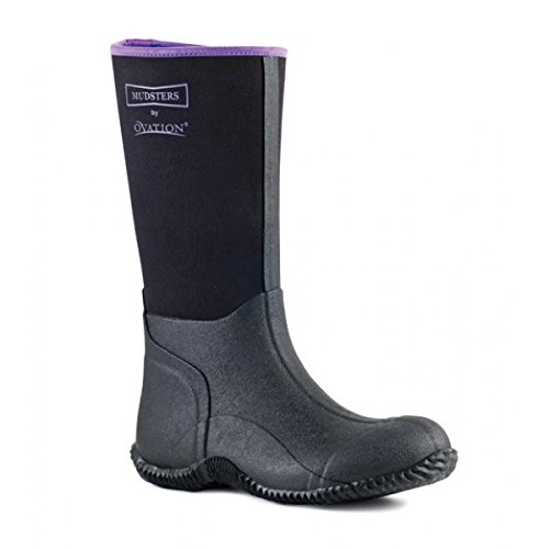 Ovation Mudster Tall Barn Boots 40 Purple