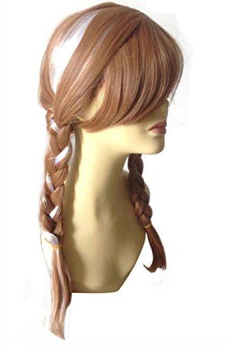 Katara - Peluca de Princesa Elsa de Frozen, accesorio de disfraz de carnaval - color dorado, 35cm-50cm: Amazon.es: Juguetes y juegos