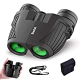 Baufut 12x25 Compact Binoculars for Adults Kids with Low Light Night Vision,Rotatable Eyepiece